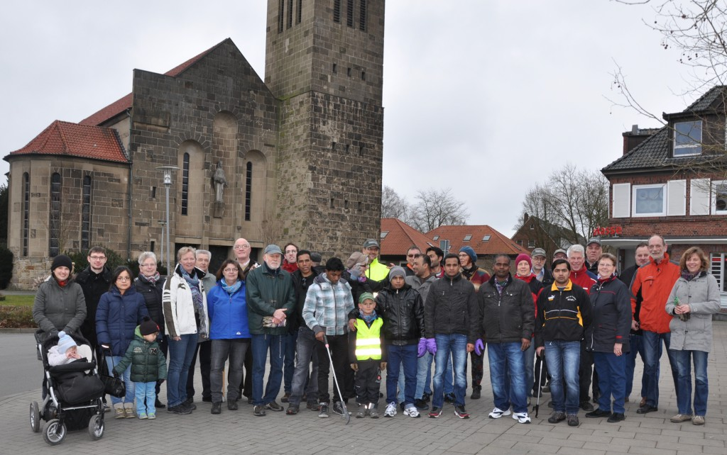 Fast 40 freiwillige Helfer haben sich zur Aktion zusammengefunden